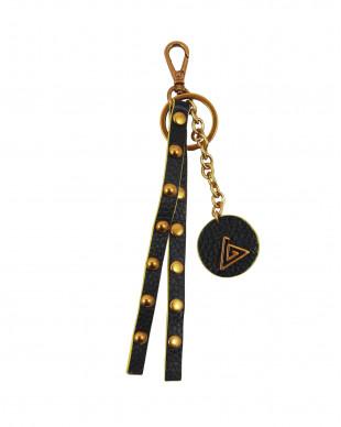 Porte clés en cuir noir roche PYA