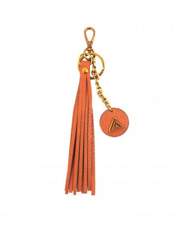 Porte clés en cuir camel magma PATY