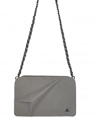 4d487031d3 Sac bandoulière en cuir gris cendré AVIA