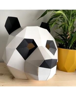 Pliage papier Origami Akyrès -  Masque Panda