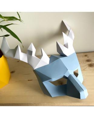 Pliage papier Origami Akyrès - Masque Cerf