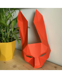 Pliage papier Origami Akyrès - Masque Lapin