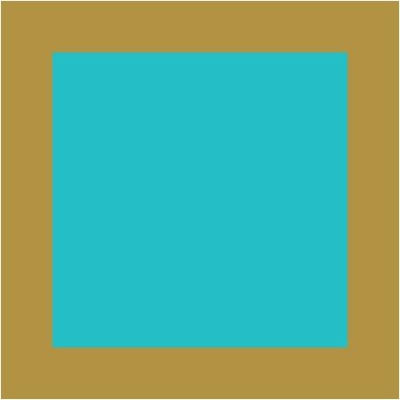 Turquoise / Doré
